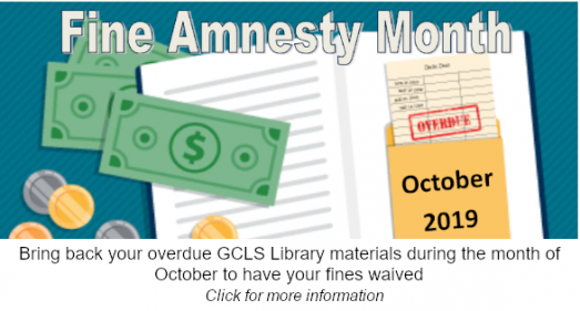 October 2019 Fine Amnesty Month Image